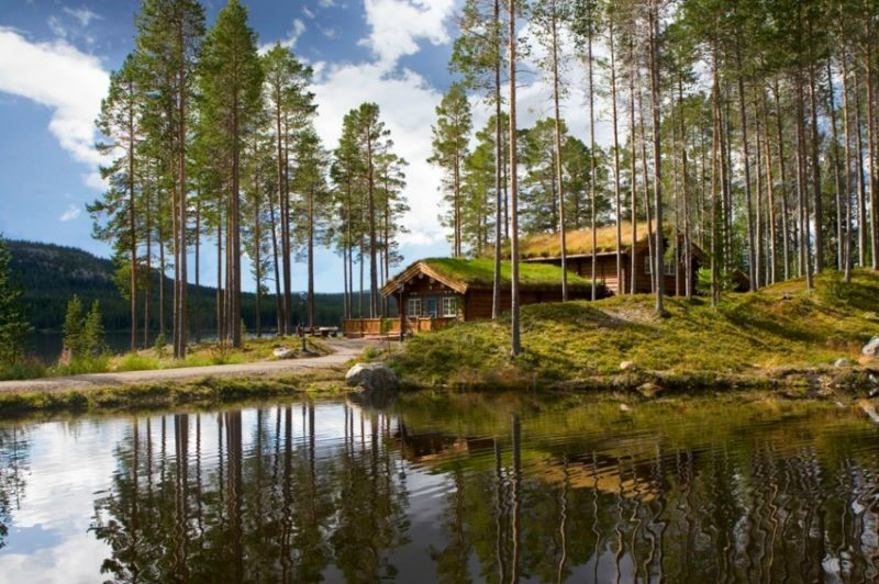 ferienhaus 1179 luxuri ses ferienhaus bei lofsdalen. Black Bedroom Furniture Sets. Home Design Ideas