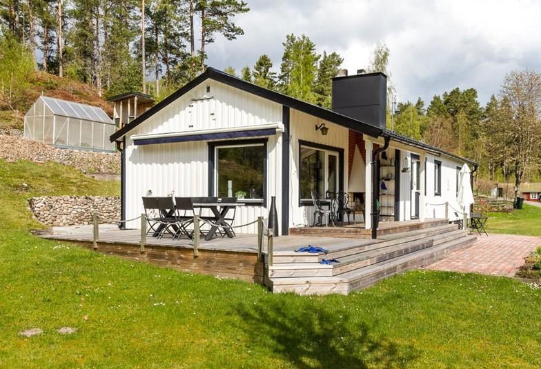 ferienhaus 1869 gut ausgestattetes ferienhaus mit seeaussicht v sterg tland. Black Bedroom Furniture Sets. Home Design Ideas