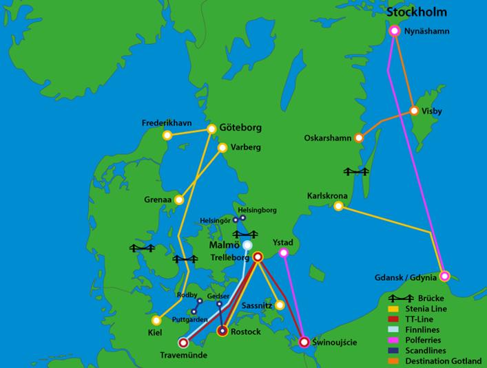 brücke dänemark schweden karte Mit dem eigenen Auto über den Landweg nach Schweden